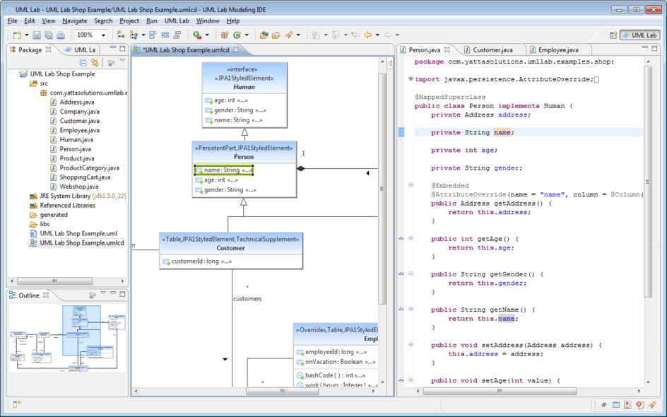 diagram and source code - Uml Reverse Engineering