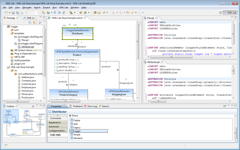 How to use uml lab yatta solutions set code style ccuart Choice Image