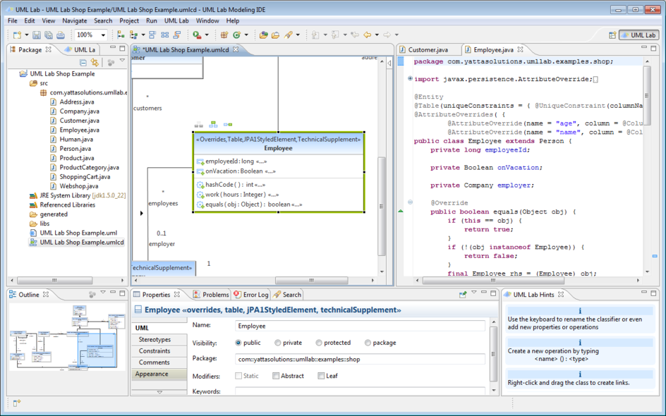 How to use uml lab yatta solutions uml class and source code ccuart Choice Image